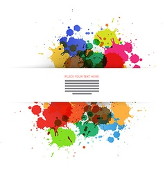 Colorful Blots Background vector image vector image
