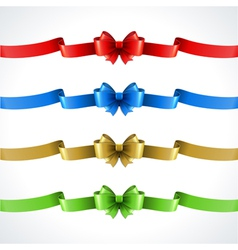Gift bow and ribbon set vector