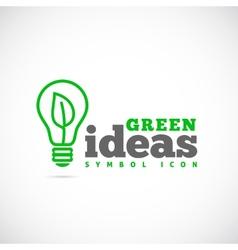 Green Ideas Concept Symbol Icon or Logo Template vector image vector image