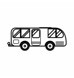 Residential camper icon outline style vector image