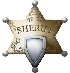 sheriff bage vector image