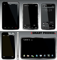 smart phones set vector image