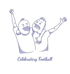 Sport fans celebrating victory vector image vector image