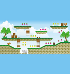 2d tileset platform game 37 vector