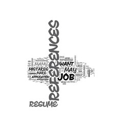 A resume reference guide text word cloud concept vector
