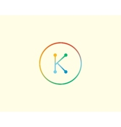Abstract letter K logo design template Colorful vector