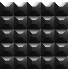 Black soundproofing foam background with light vector