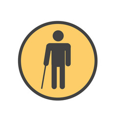blind person with a stick vector image