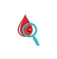 Blood drop test logo vector