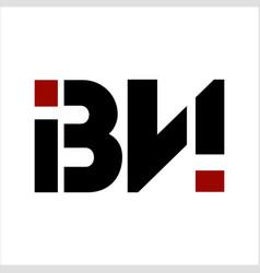 bn ibn ibni initials letter company logo vector image