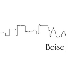 boise city one line drawing vector image