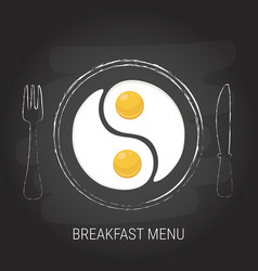Breakfast menu concept vector