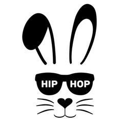 Bunny hip hop vector