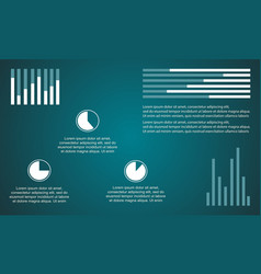 Business infographic diagram and graphic vector