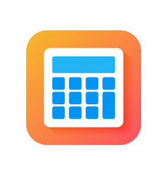 calculator icon modern icon in flat style on vector image