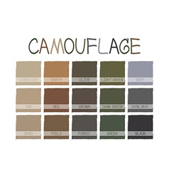 Camouflage Color Tone vector