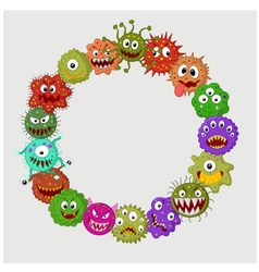Cartoon germ colony vector