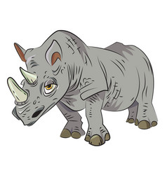 Cartoon image of rhino vector