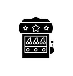 casino machine black icon sign on isolated vector image
