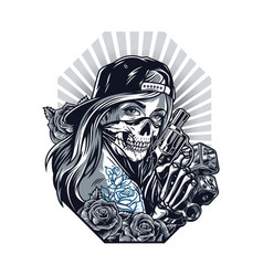 Chicano tattoo style vintage concept vector