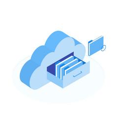 cloud data storage vector image