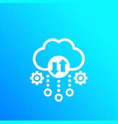 cloud storage data transfer icon vector image