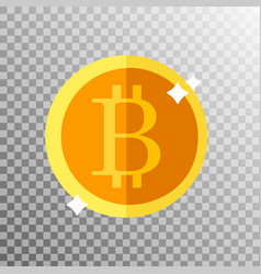 Coin bitcoin on a transparent background vector