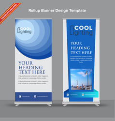 corporate blue rollup banner vector image