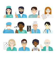 doctors doctoral character portrait or vector image