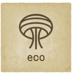 Eco tree symbol vector