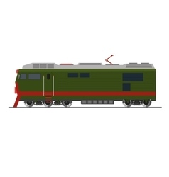 Freight train Isolated on white Side view vector