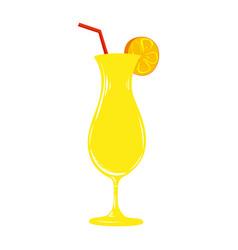 fresh cocktail juice glass cocktail juice vector image