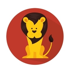 funny lion circus icon vector image