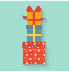 Gifts in style flat vector image