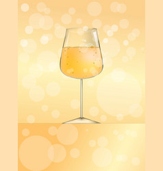 glass of wine or beer or champagne for web and vector image