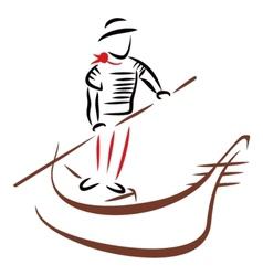 Gondola ride vector image