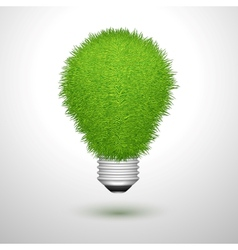 Green creative lightbulb isolated vector image