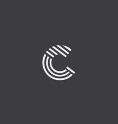 letter c line logo design creative vector image