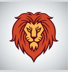 Lion head logo mascot design template icon vector