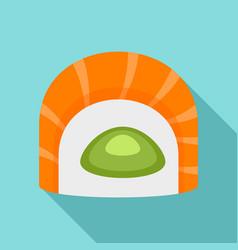 Maguro tai sushi icon flat style vector