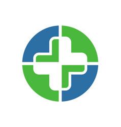 medical abstract logo icon vector image