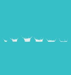 Milk splash sequence animation sprite sheet drip vector