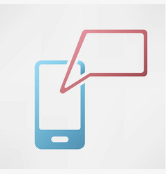 mobile communication icon vector image