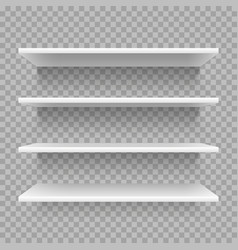 Modern empty 3d bookshelf retail shop shelf on vector