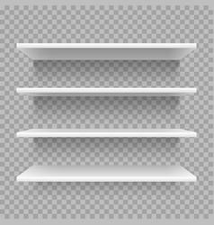 Modern empty 3d bookshelf retail shop shelf vector