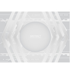 modern white technological background design vector image
