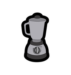 Monochrome thick contour of kitchen blender vector