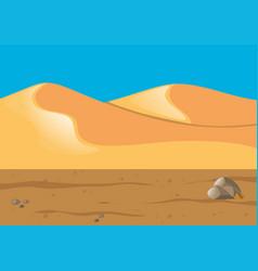 Nature scene with sand in desert vector