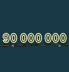 Neon garland number vector