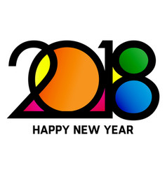 New year 2018 color image vector